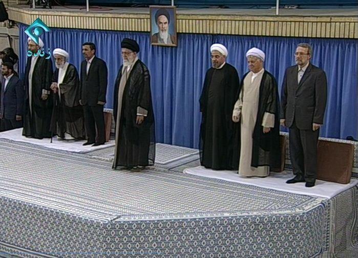 عکس/ورود رهبری و سران به مراسمتنفیذ
